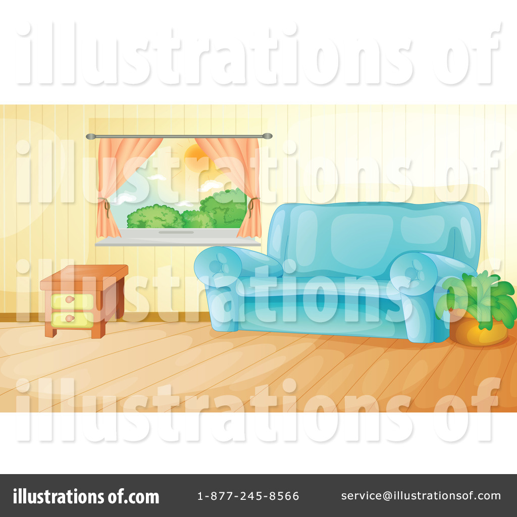 Royalty Free RF Living Room Clipart Illustration By Graphics