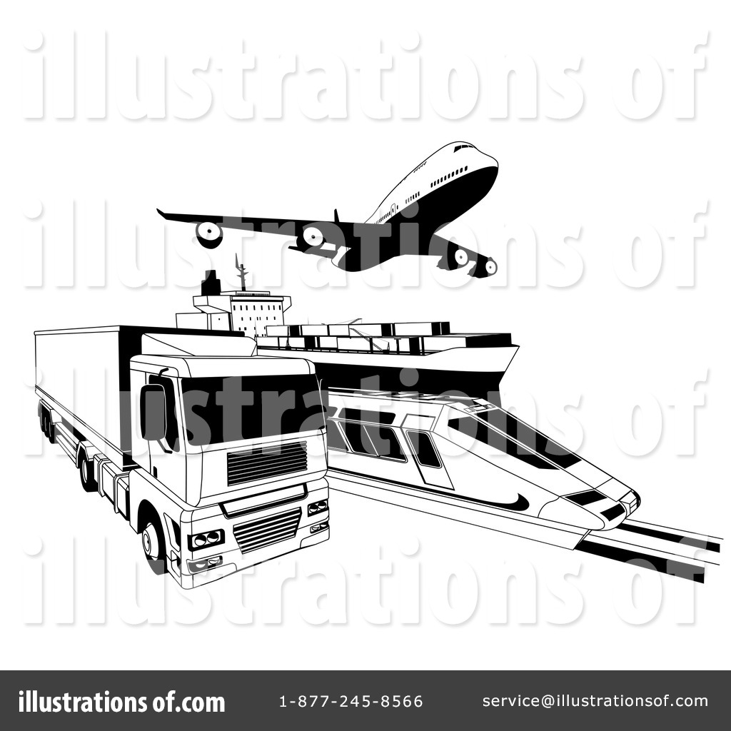 Logistics Clipart #1182034 - Illustration by AtStockIllustration