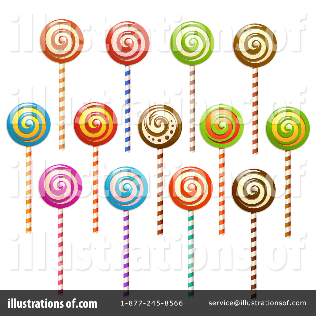 Lollipop Clipart #1150899 - Illustration by merlinul