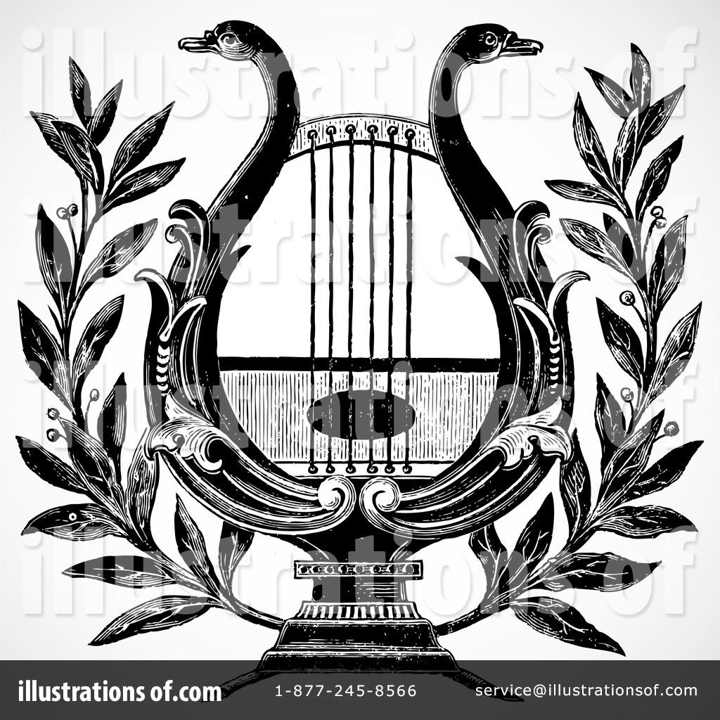 Lyre Clipart #77530 - Illustration by BestVector