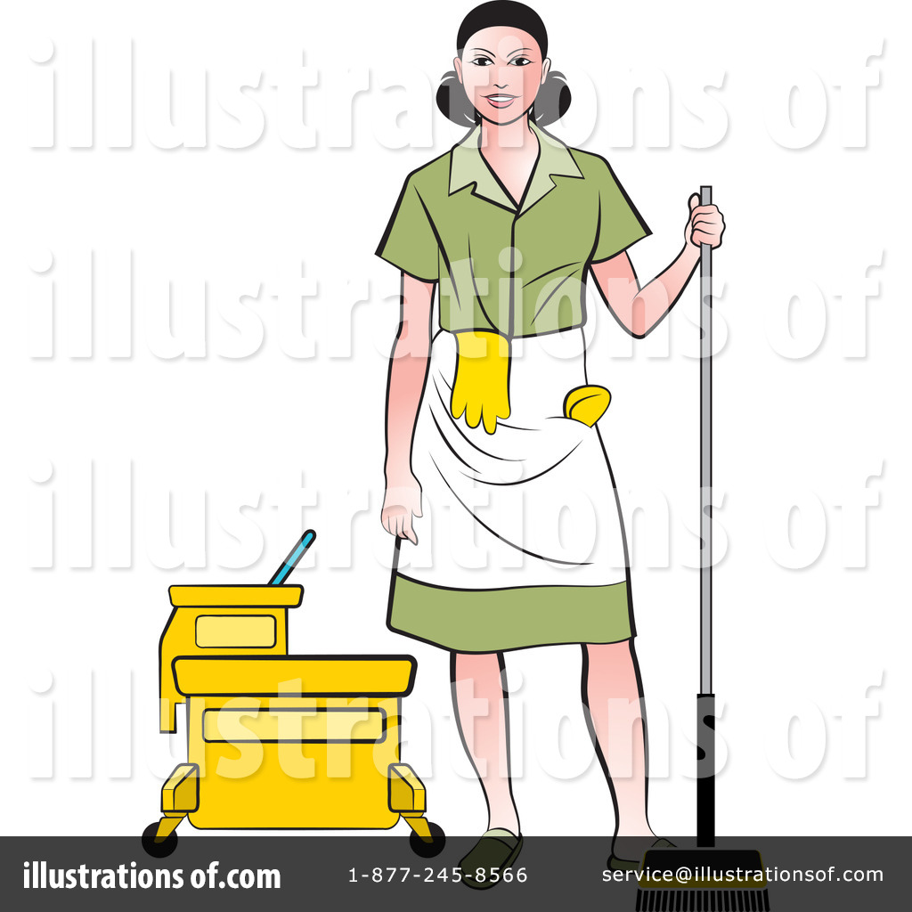 Maid Clipart #1186240 - Illustration by Lal Perera