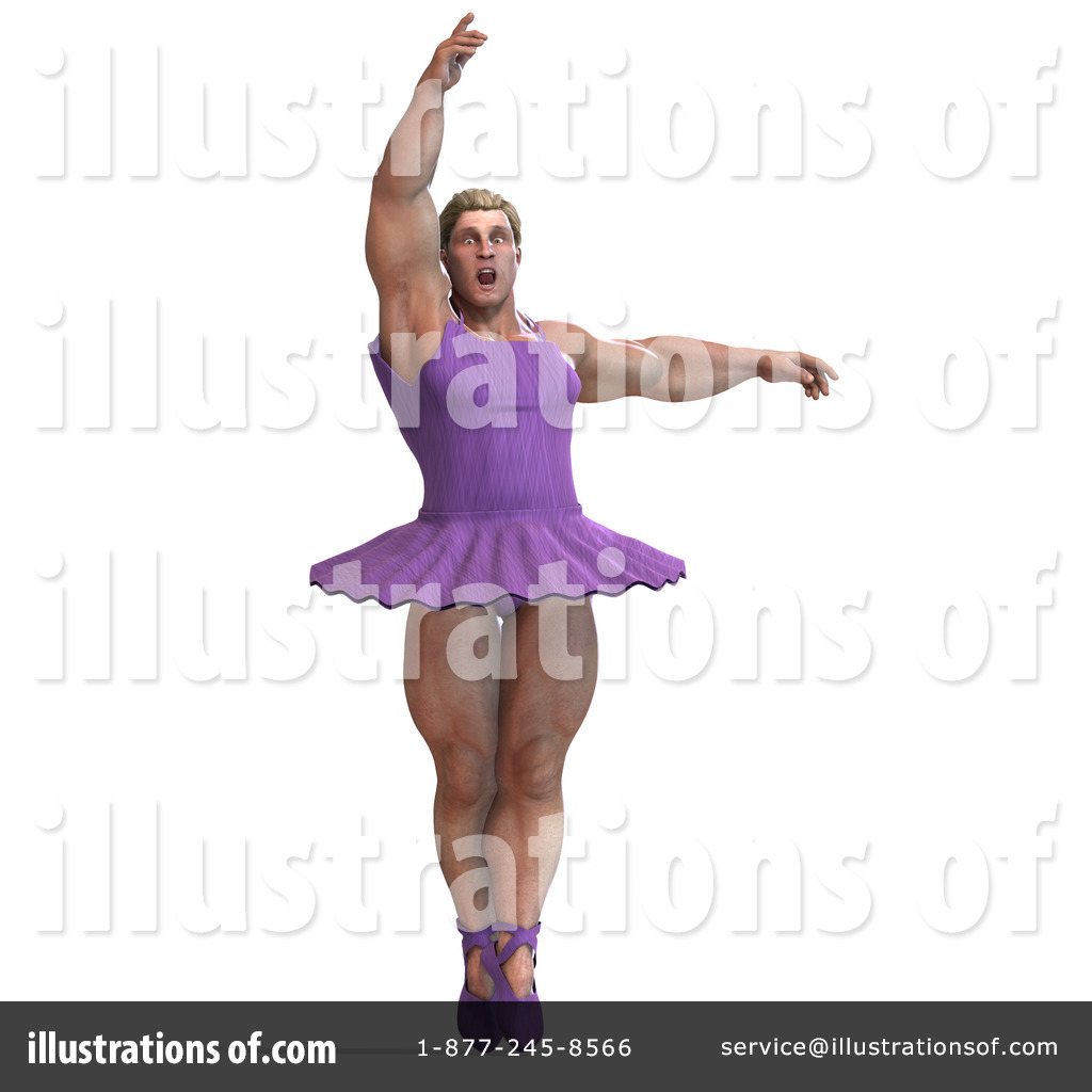 Male Ballerina Clipart #1075070 Illustration by Ralf61