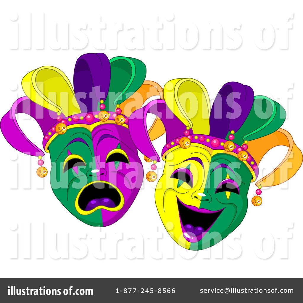 Mardi Gras Clipart #1090070 - Illustration by Pushkin