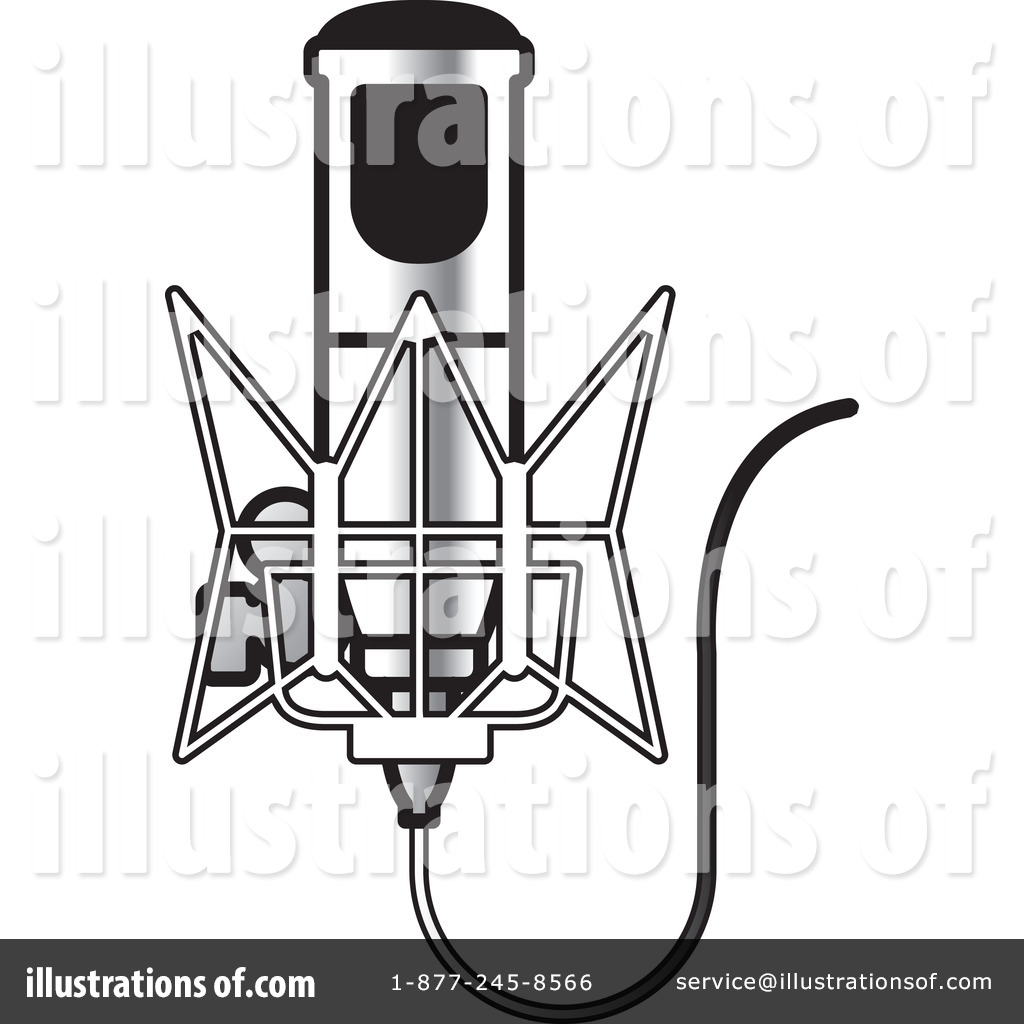 Microphone Clipart #1210425 - Illustration by Lal Perera