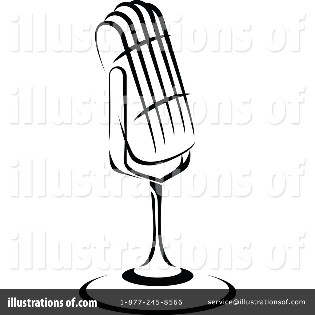 Microphone Clipart #1097875 - Illustration by Vector Tradition SM