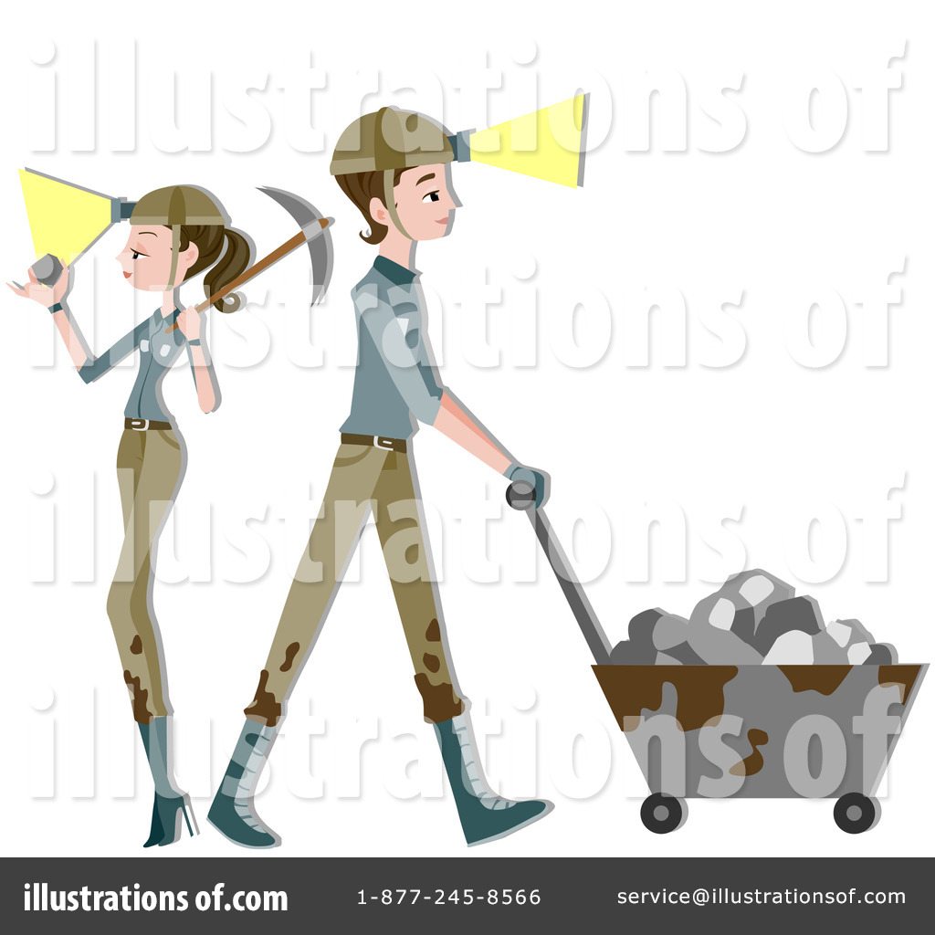 Mining Clipart #210230 - Illustration by BNP Design Studio