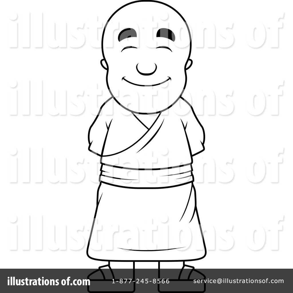 Monk Clipart #1157088 - Illustration by Cory Thoman