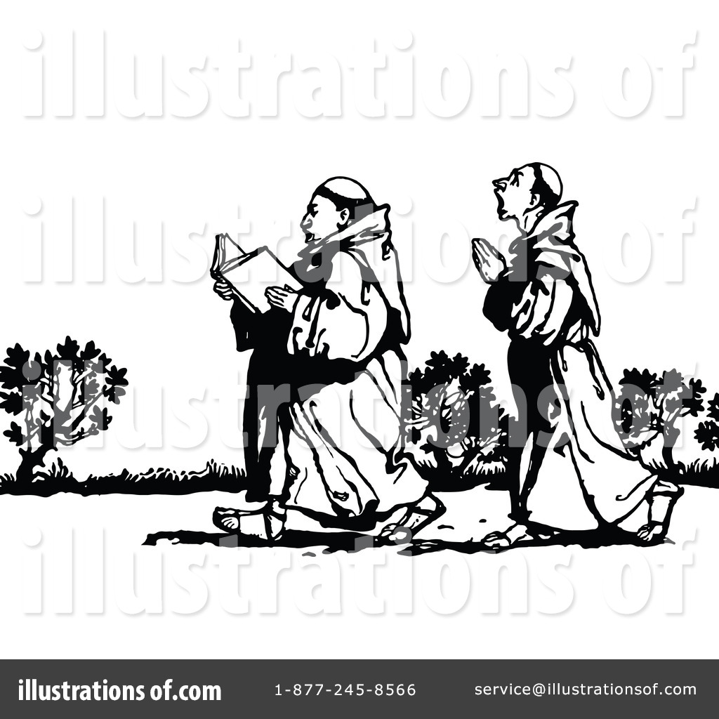 Monk Clipart #1121337 - Illustration by Prawny Vintage