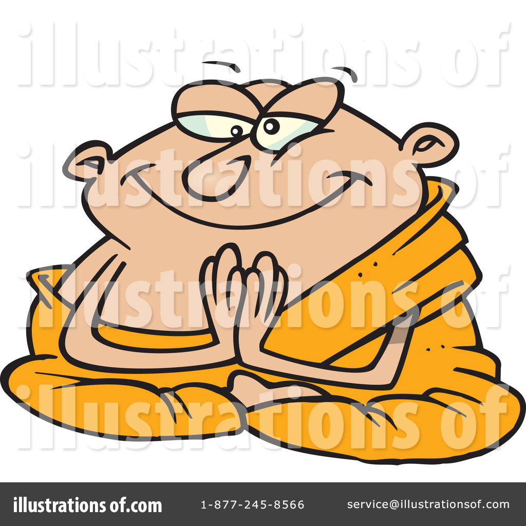 Monk Clipart #443869 - Illustration by Ron Leishman