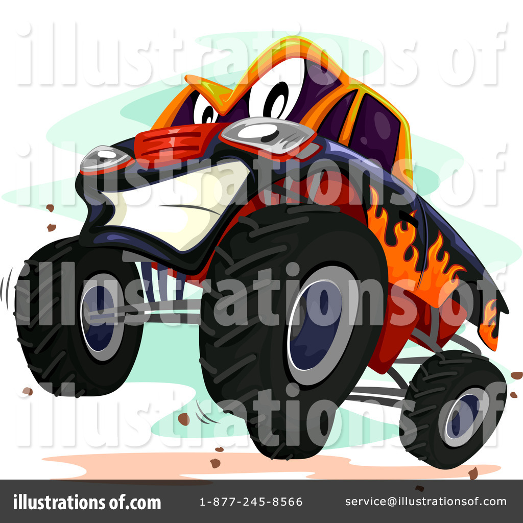 Monster Truck Clipart #1300052 - Illustration by BNP Design Studio