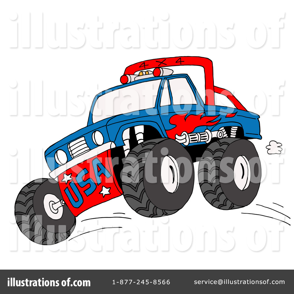 Monster Truck Clipart #84281 - Illustration by LaffToon