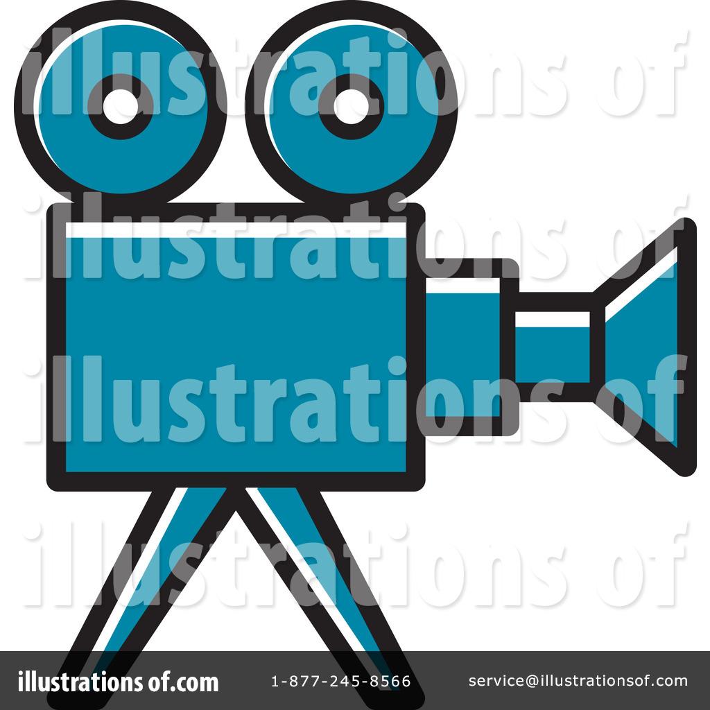 Movie Camera Clipart #1233901 - Illustration by Lal Perera