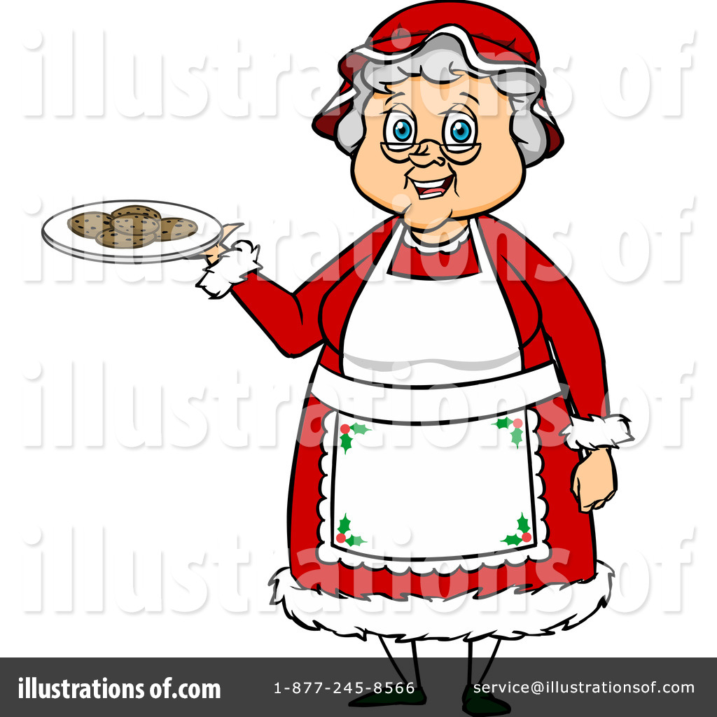 mrs claus clipart 1105137 illustration by cartoon solutions rh illustrationsof com mrs. claus clipart black and white mrs santa claus clipart