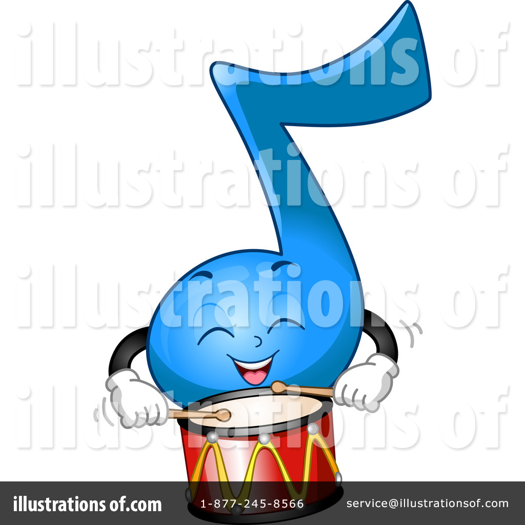 Royalty Free RF Music Note Clipart Illustration 1117289