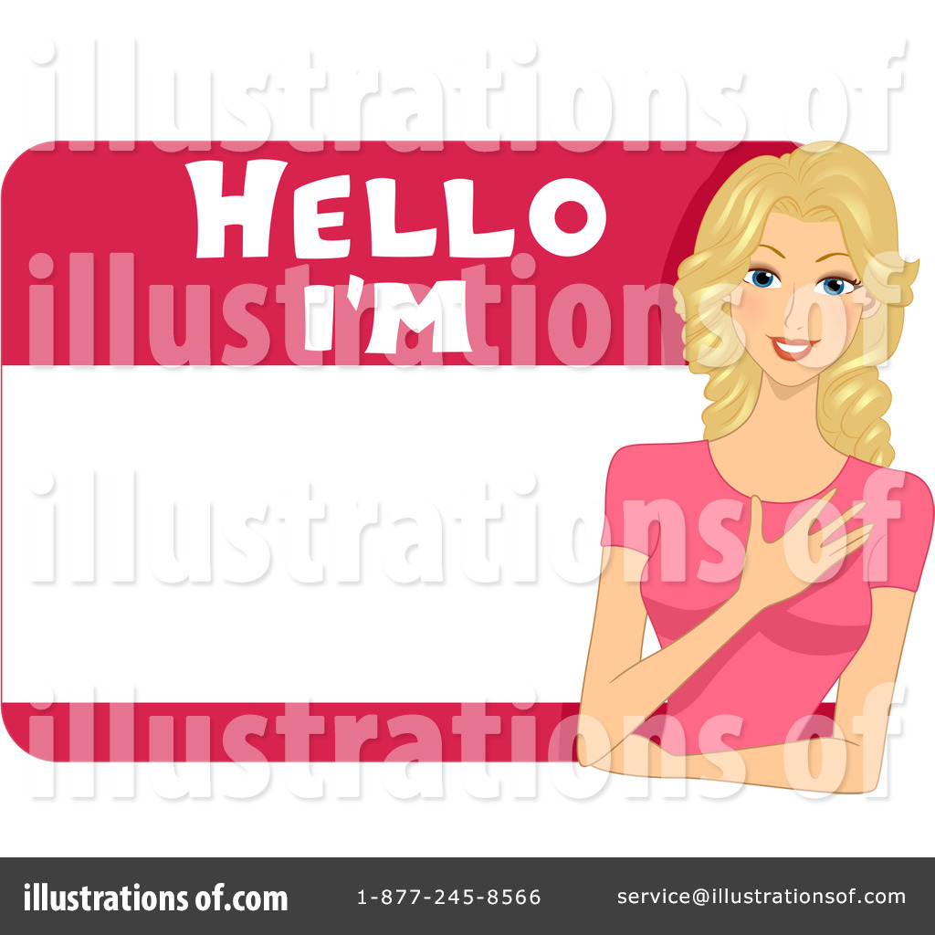 name tag clipart 1094778 illustration by bnp design studio rh illustrationsof com name badge clip art free name tag clip art free