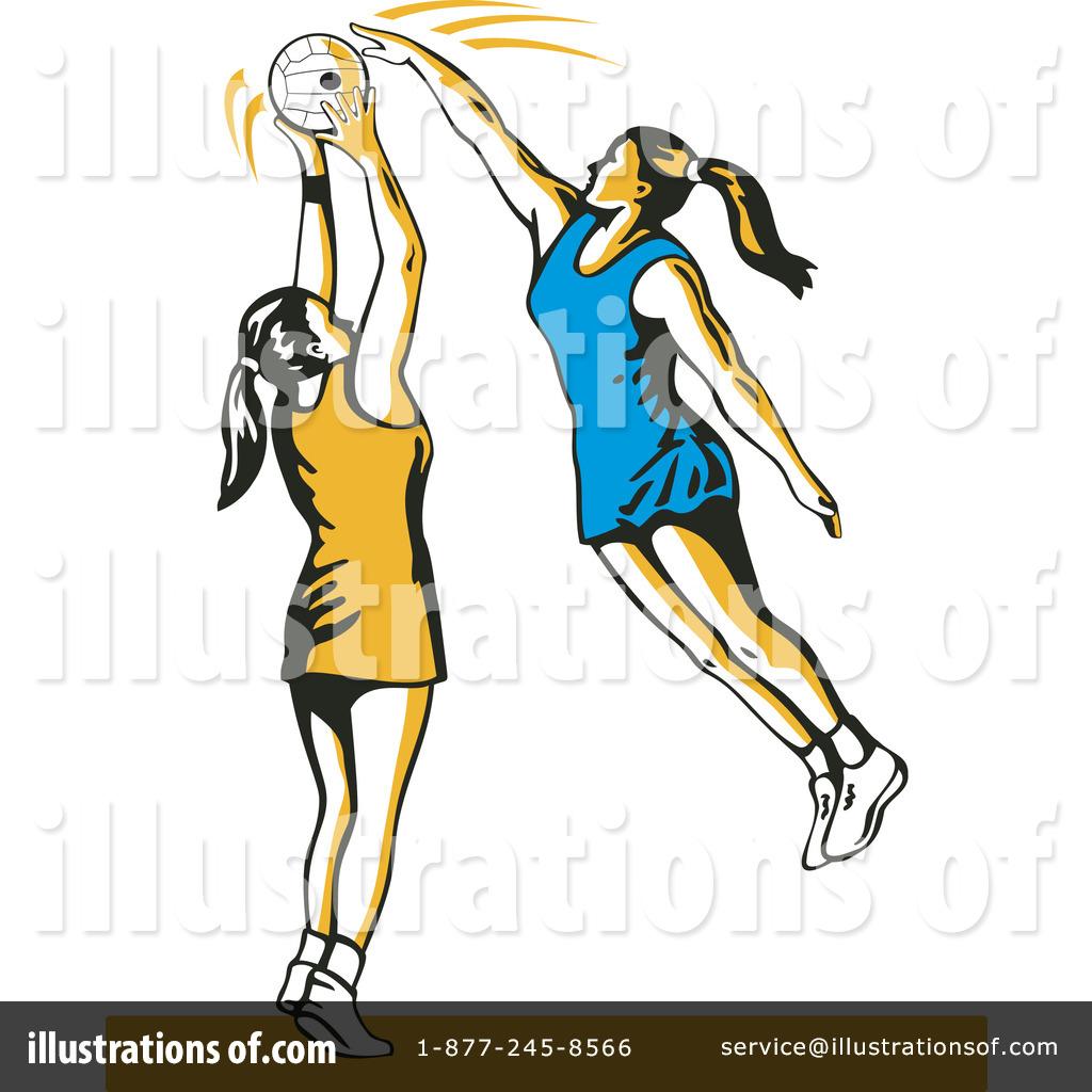 netball clipart 1145642 illustration by patrimonio Basketball Player Silhouette Clip Art Basketball Player Silhouette Clip Art