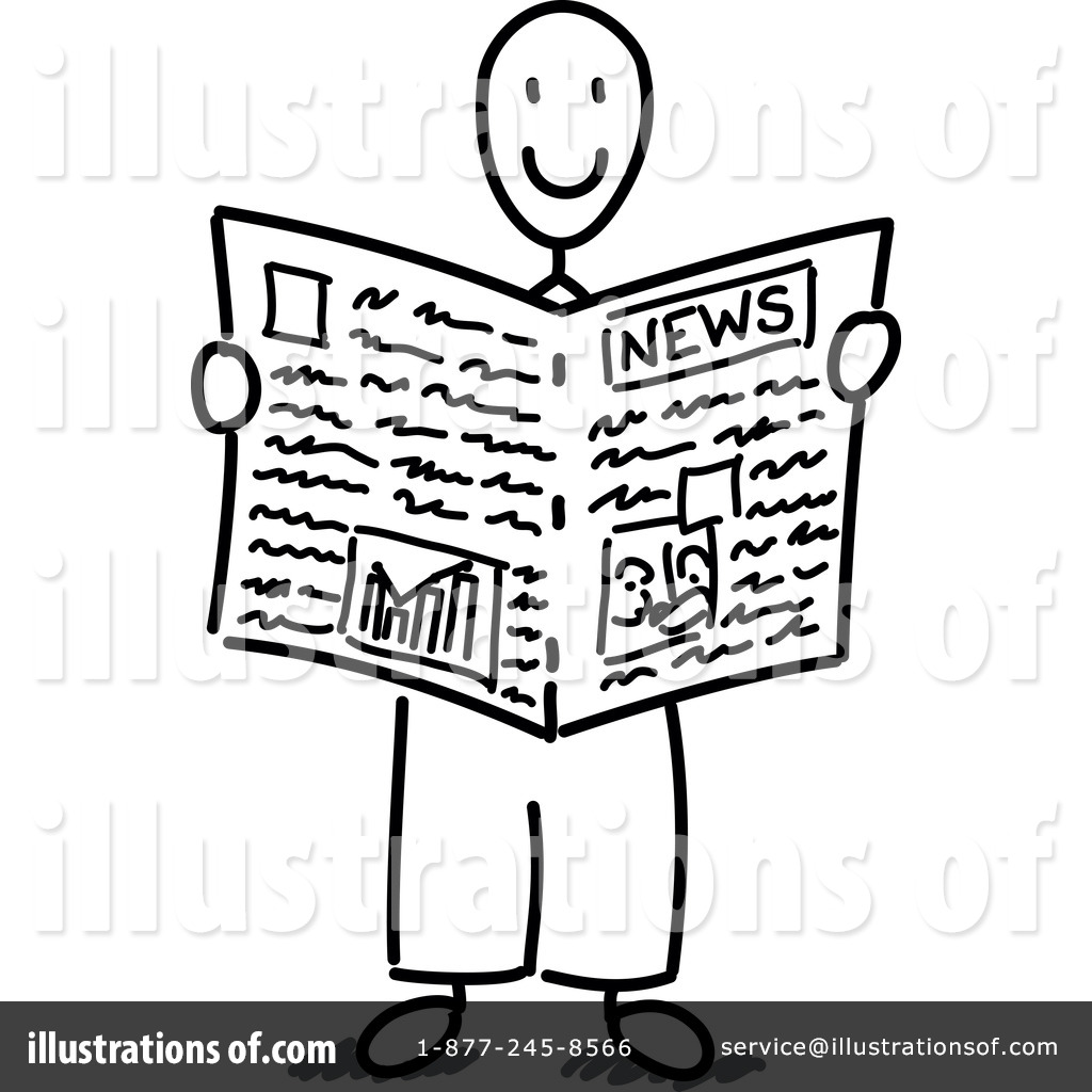 Newspaper Clipart #1053998 - Illustration by Frog974