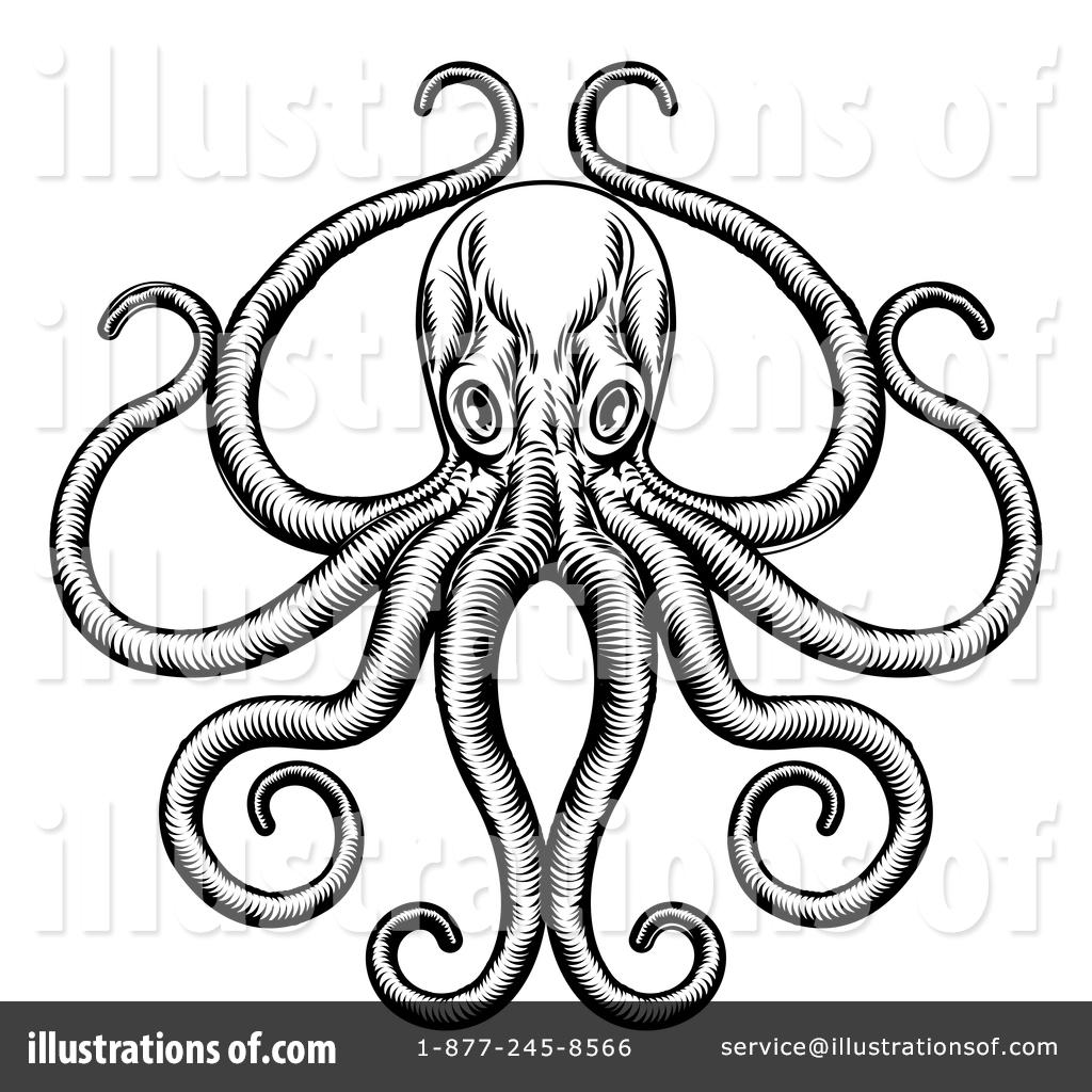 octopus clipart 1394168 illustration by atstockillustration rh illustrationsof com Free Whale Clip Art free cartoon octopus clipart