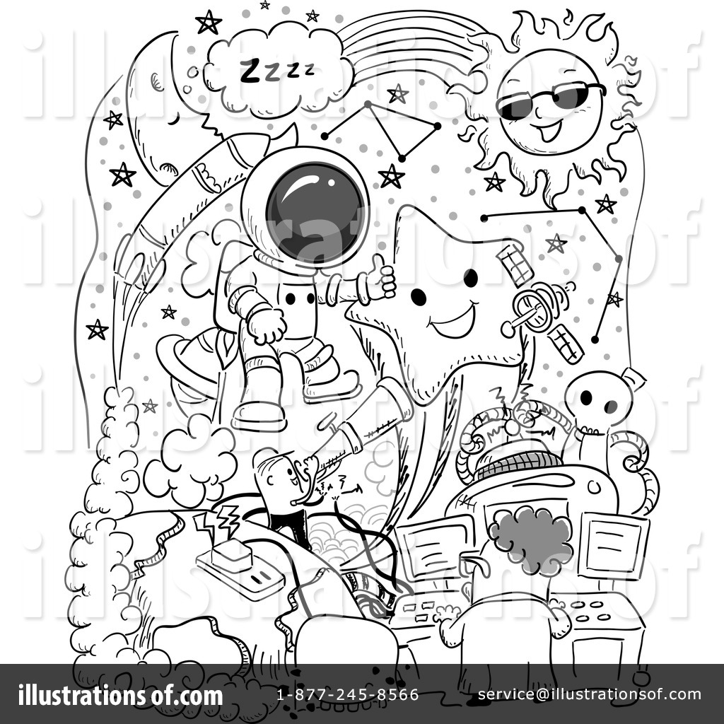 Outer Space Clipart #1213064 - Illustration by BNP Design Studio