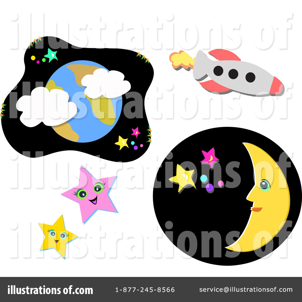 Outer Space Clipart #1079250 - Illustration by bpearth