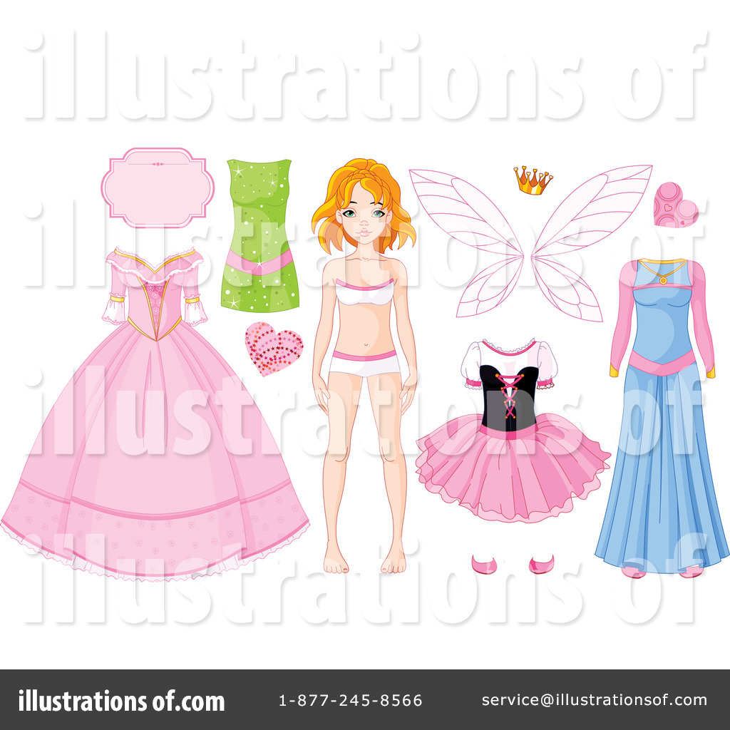 Royalty Free (RF) Paper Doll Clipart Illustration By Pushkin   Stock Sample  #