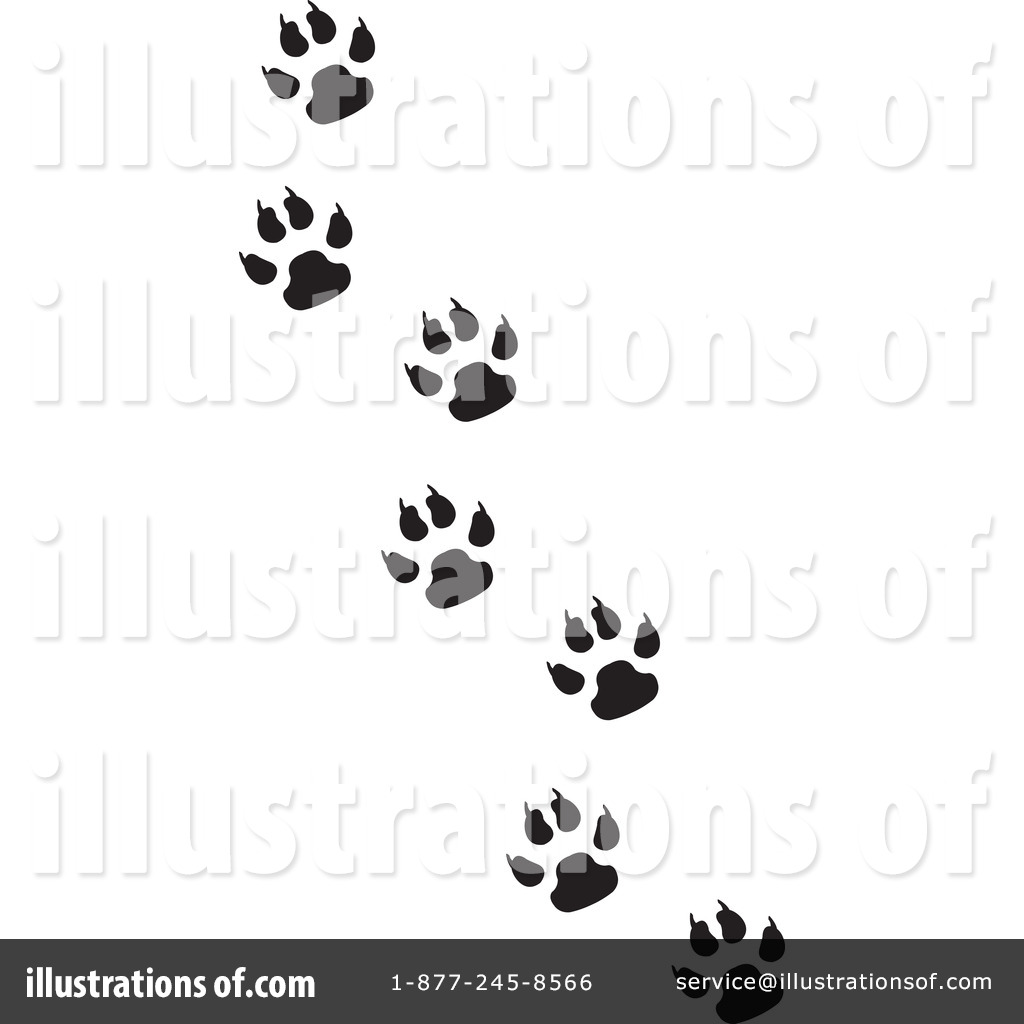 paw prints clipart 65082 illustration by dennis holmes designs