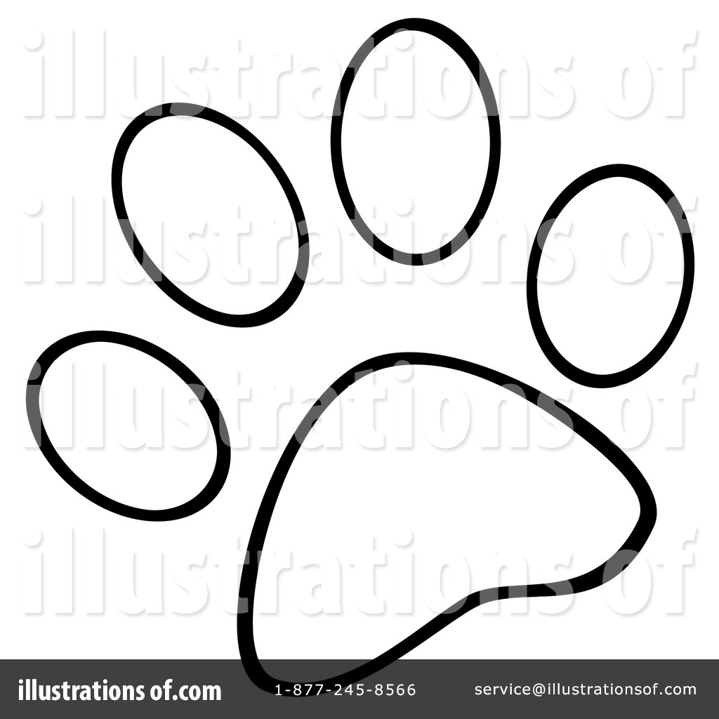 Royalty Free RF Paw Prints Clipart Illustration By Hit Toon