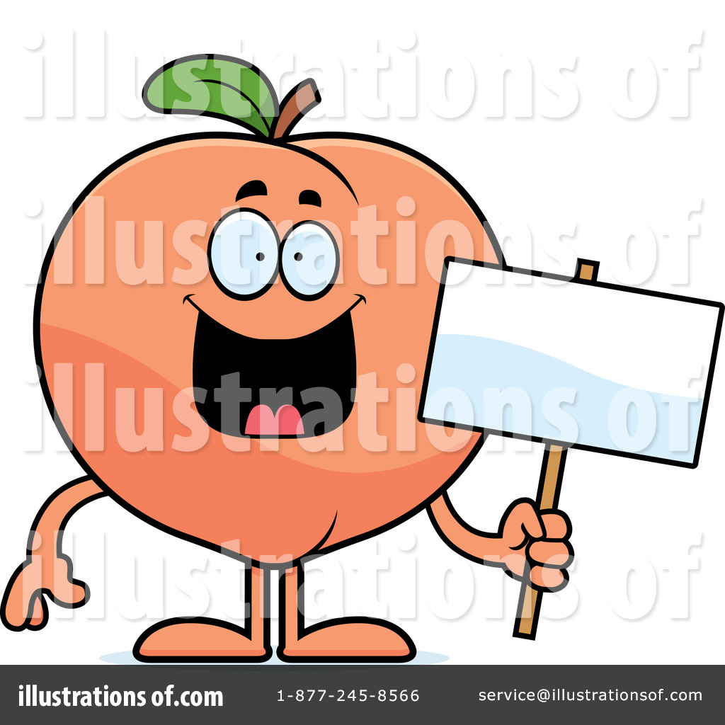 Peach Clipart #1164929 - Illustration by Cory Thoman