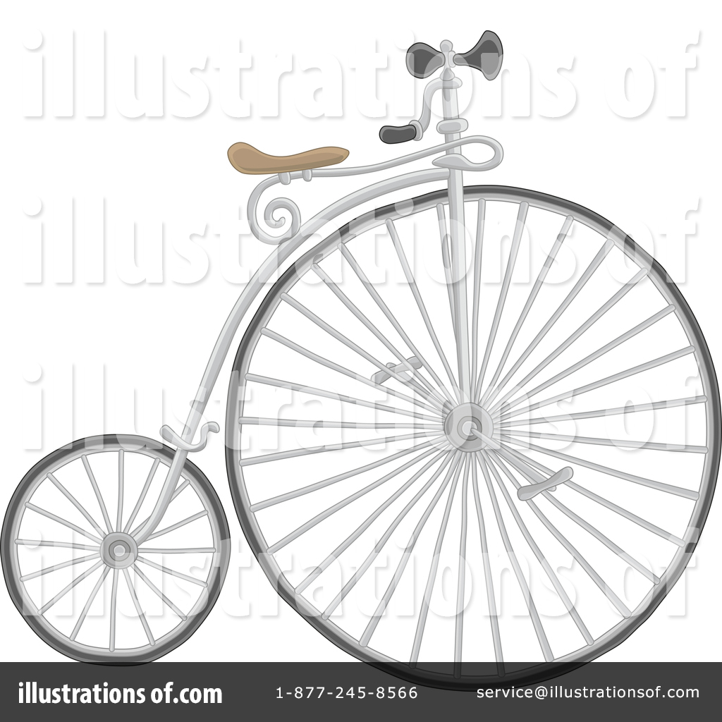 Cycle Vector Old Clip Art Black And White Download - Penny-farthing - Free  Transparent PNG Clipart Images Download
