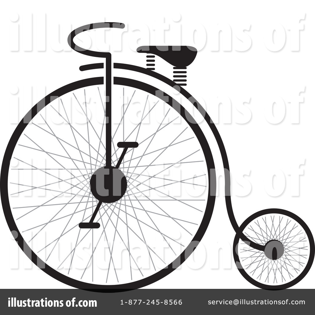 Vector - Vintage Bicycle - stock illustration, royalty free illustrations,  stock clip art icon, stock clipart icons, lo… | Penny farthing, Vintage  bicycles, Bicycle