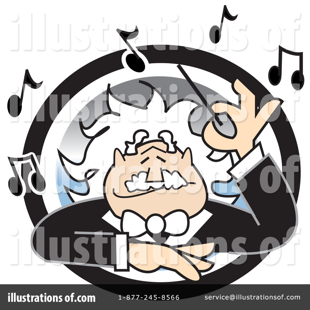 Music Conductor Clip Art - Royalty Free - GoGraph