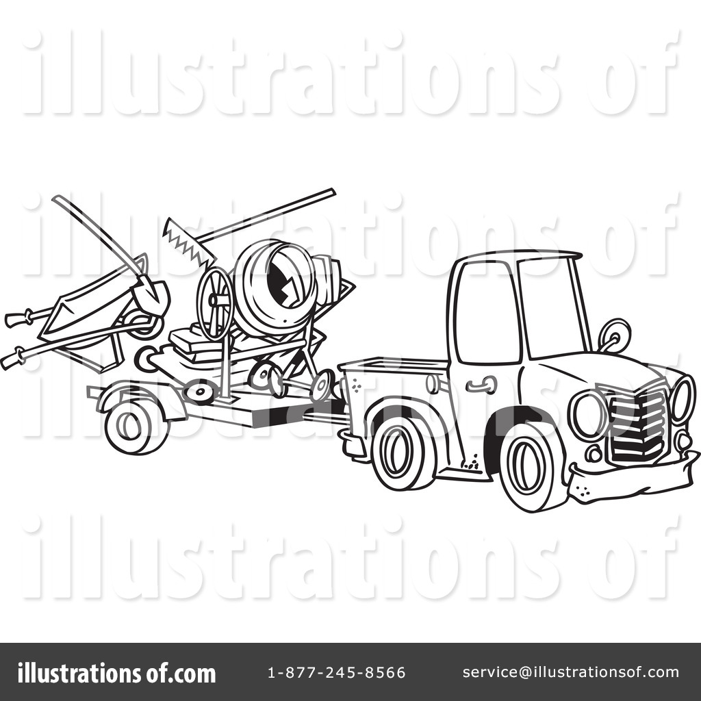 Pickup Truck Clipart #438014 - Illustration by Ron Leishman
