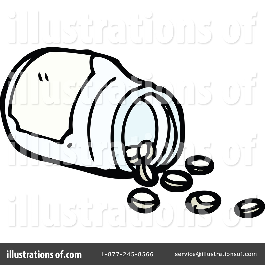 Pill bottle clipart 1190886 illustration by lineartestpilot for How to draw a pill