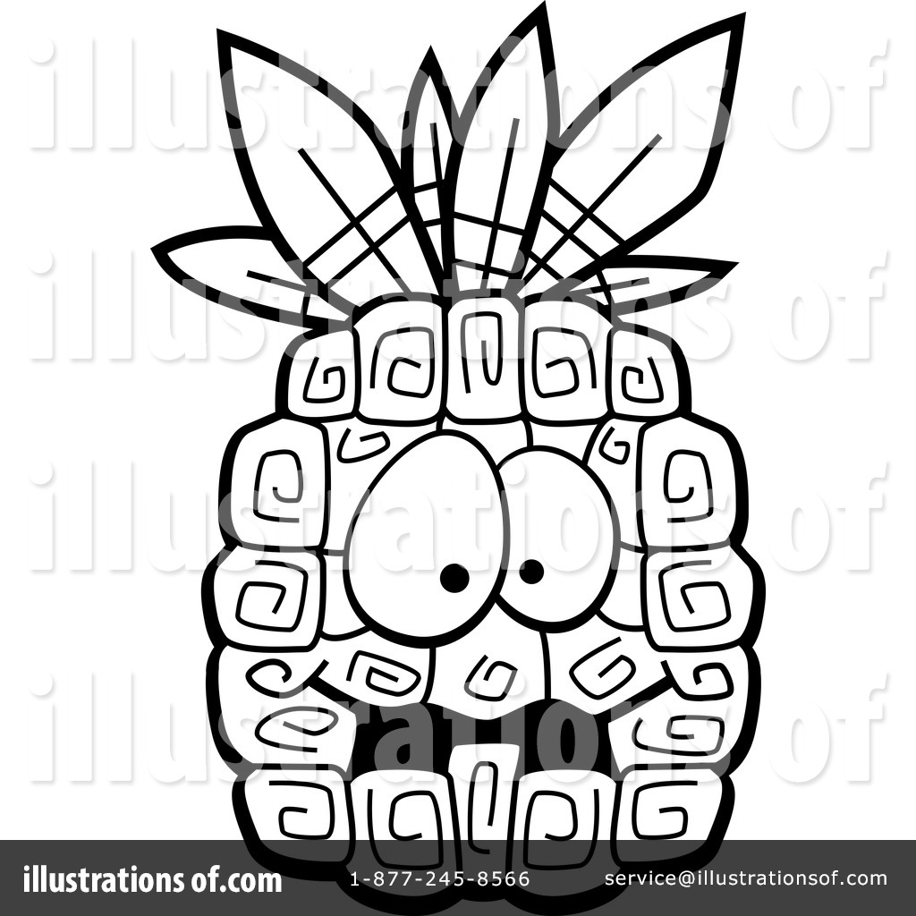 Pineapple Clipart #1151707 - Illustration by Cory Thoman for Clipart Pineapple Black And White  45jwn