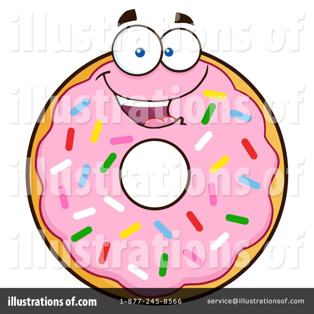 pink sprinkle donut clipart 1305081 illustration by hit toon rh illustrationsof com free printable donut clipart free donut and coffee clipart