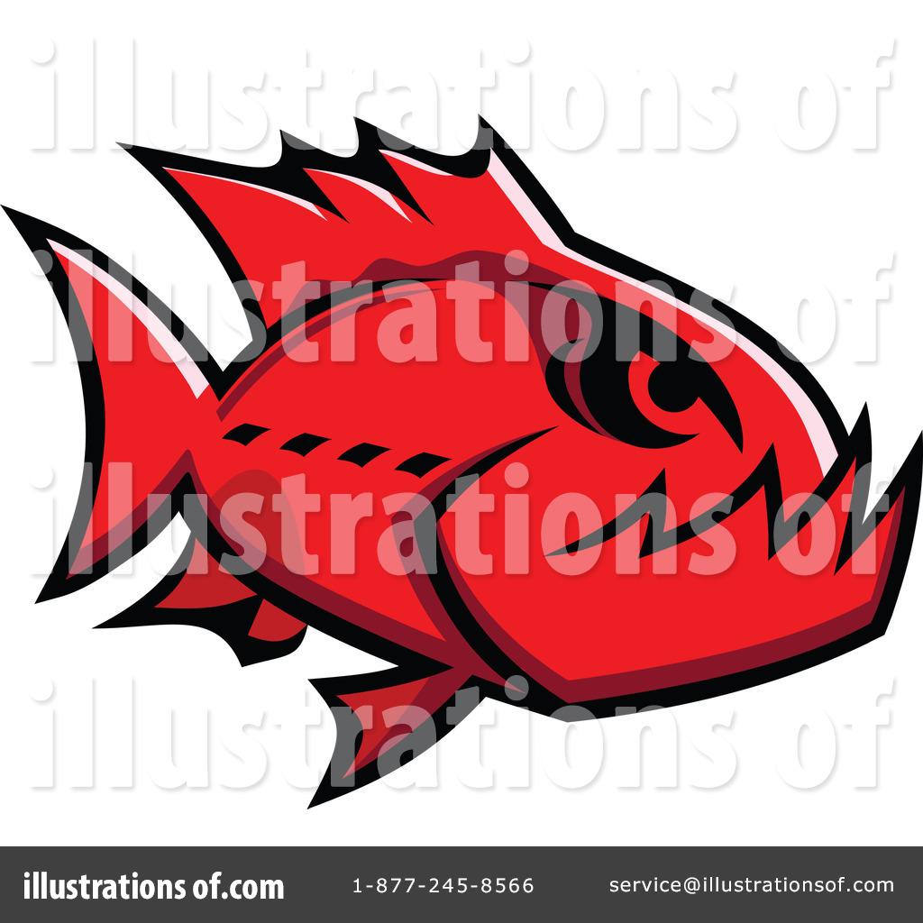 piranha clipart 1064138 illustration by vector tradition sm rh illustrationsof com Cartoon Piranha Piranha Logo
