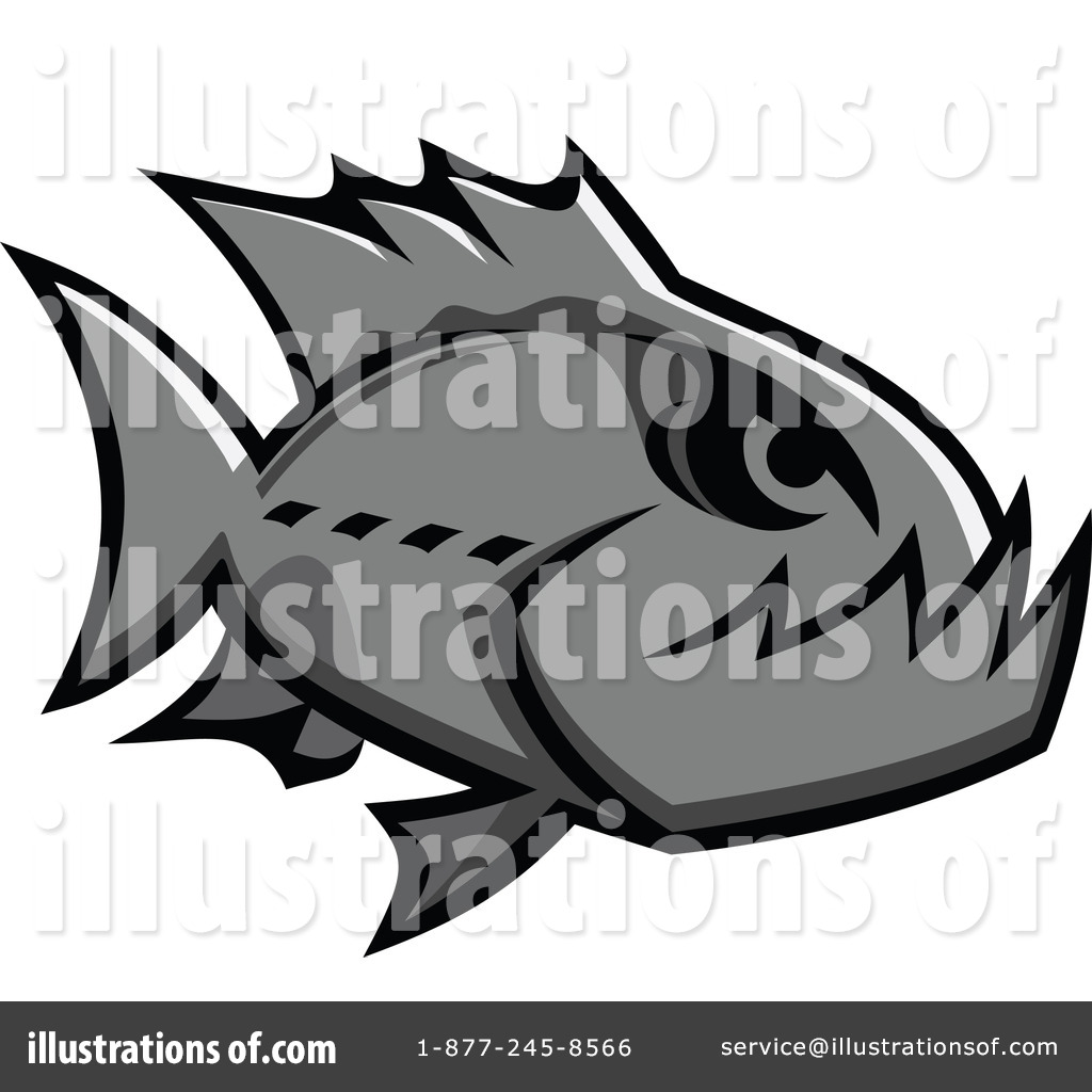 Piranha Clipart #1064140 - Illustration by Vector Tradition SM