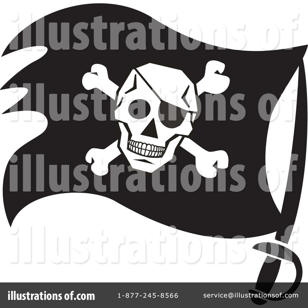 pirate flag clipart 1197555 illustration by johnny sajem