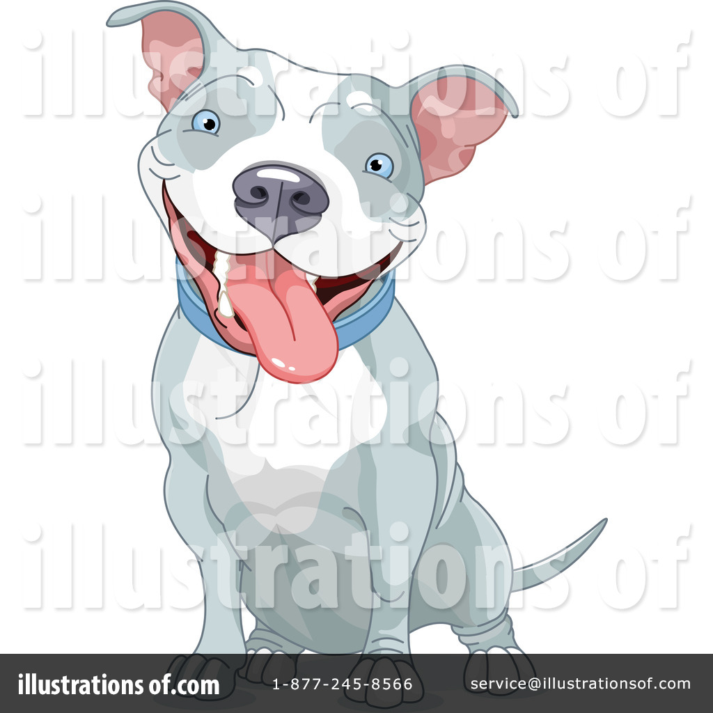 Pit Bull Clipart #1220727 - Illustration by Pushkin