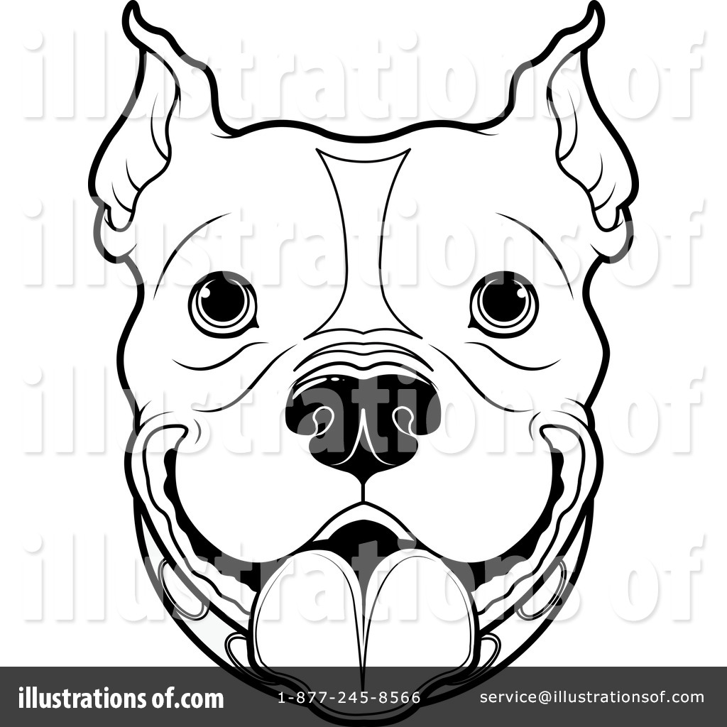Pitbull Clipart #1296326 - Illustration by Pushkin