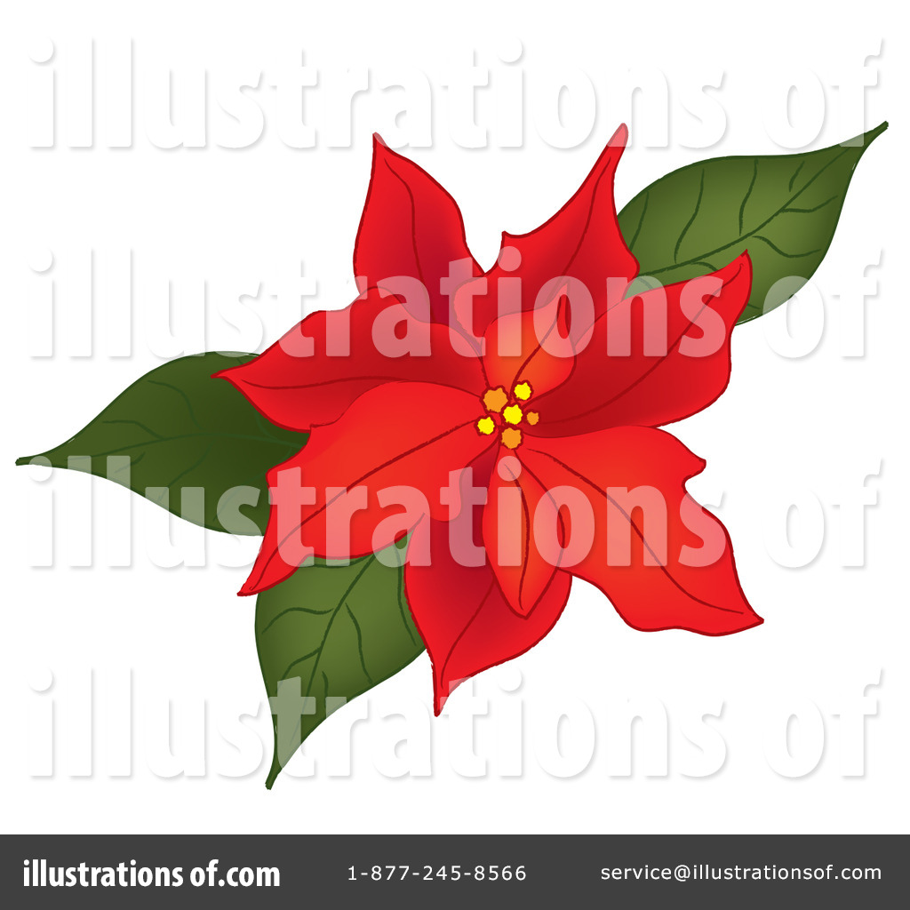 poinsettia clipart 82266 illustration by pams clipart rh illustrationsof com free poinsettia clipart images free clipart poinsettia flowers