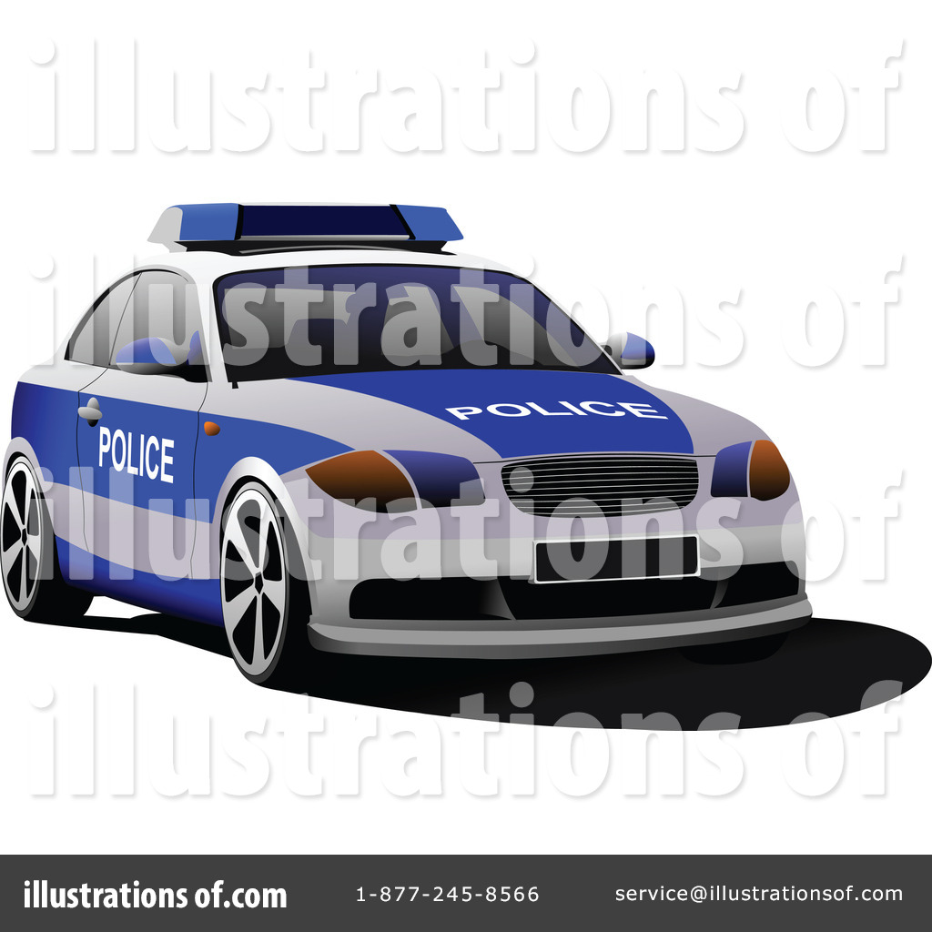 Police Car Clipart 1068161 Illustration By Leonid