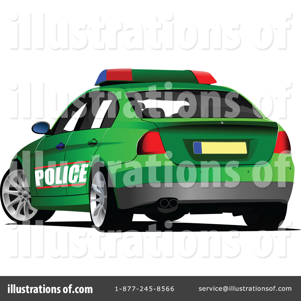 Police Car Clipart 1219868 Illustration By Leonid