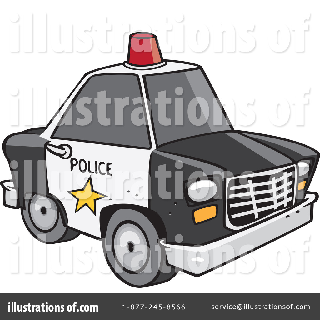 Police Car Clipart #1100827 - Illustration by Ron Leishman