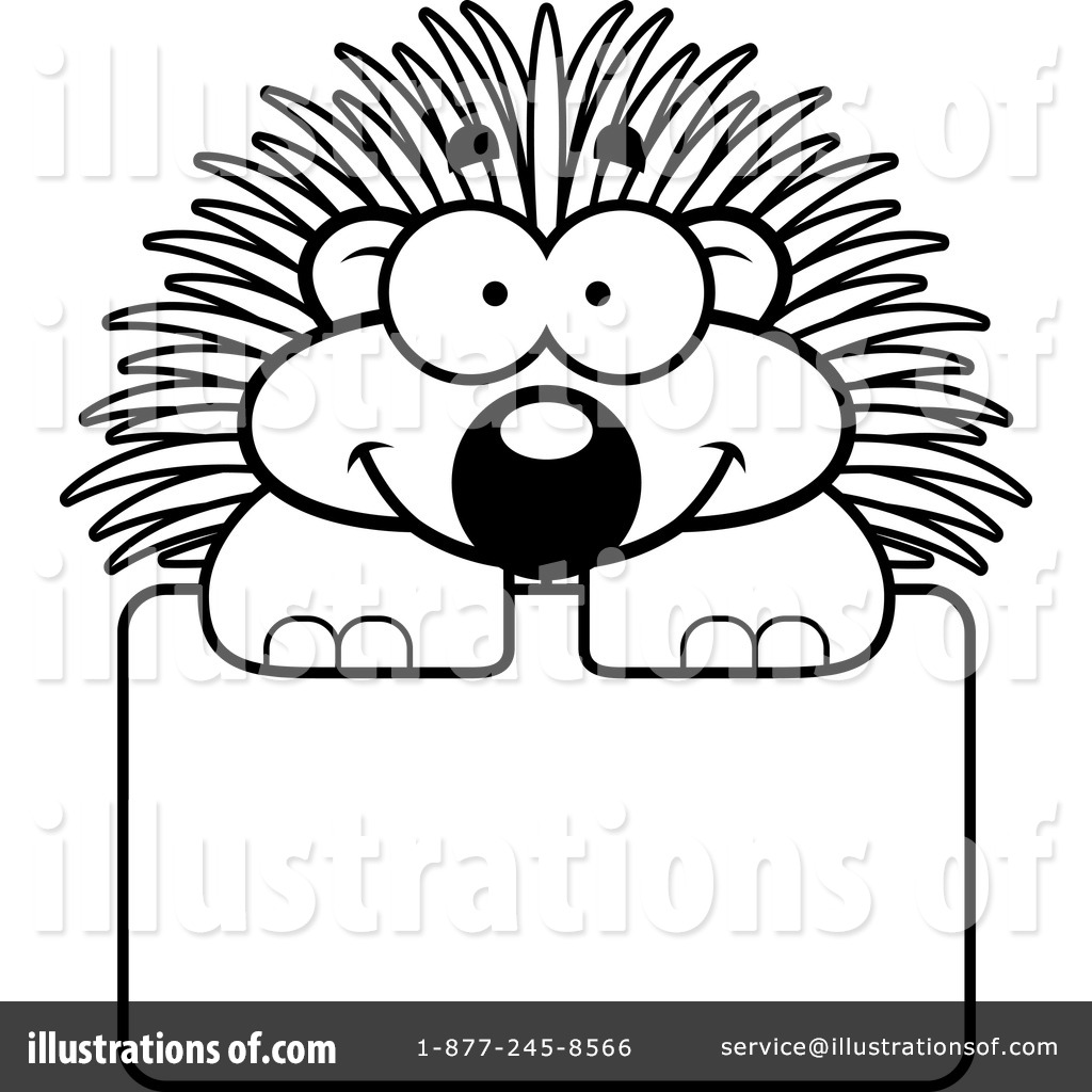Porcupine clipart 1136376 illustration by cory thoman for Porcupine coloring page