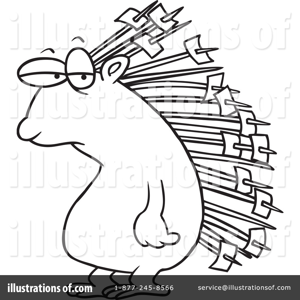 porcupine clipart 1046299 illustration by toonaday