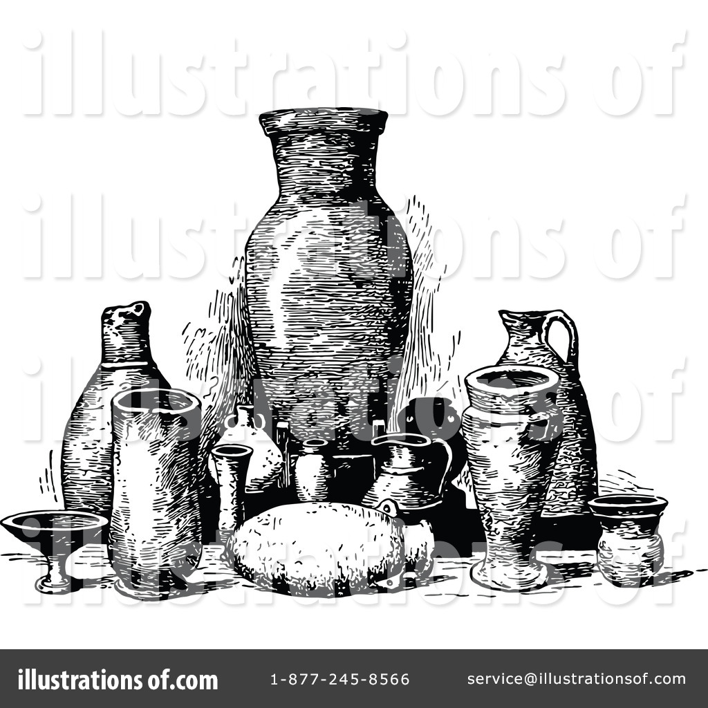 Pottery Clipart #1207502 - Illustration by Prawny Vintage