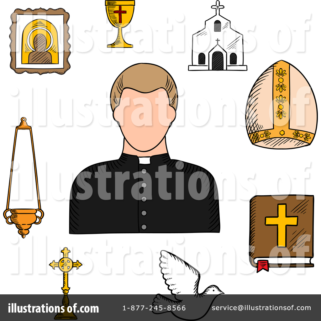 Priest Clipart #1388470 - Illustration by Vector Tradition SM