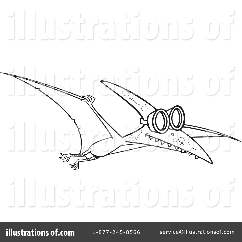 pterodactyl clipart 1230801 illustration by toonaday