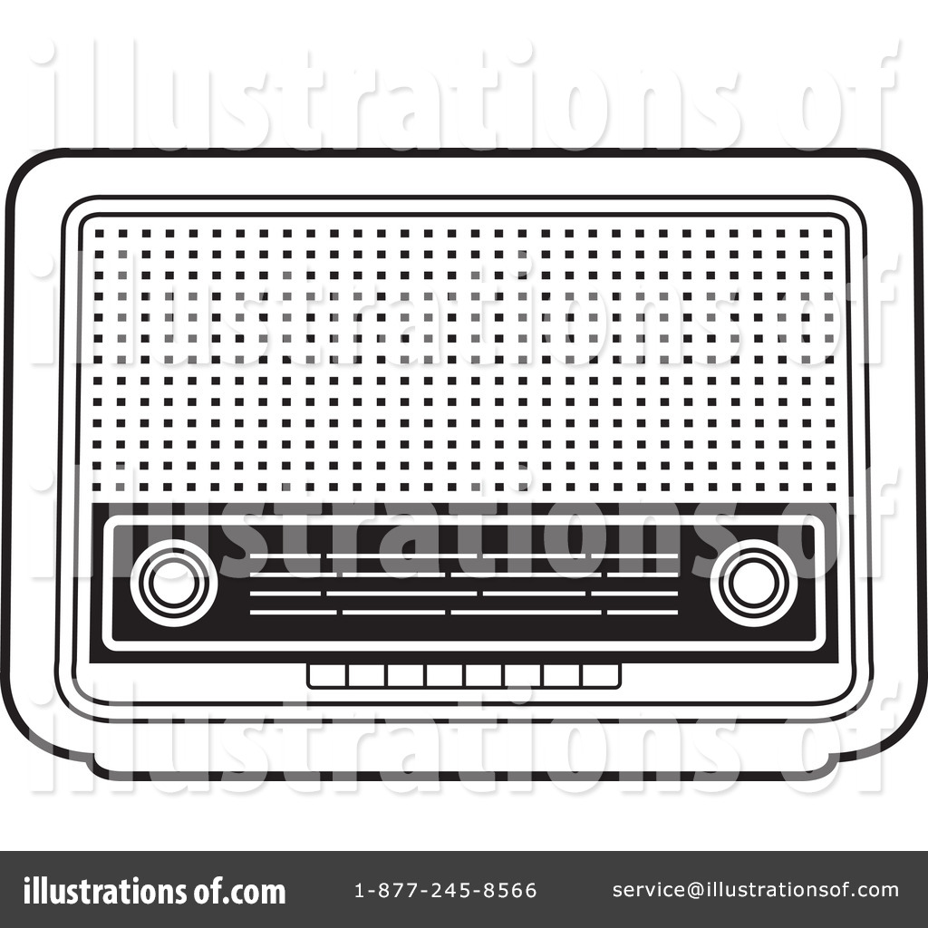 Radio Clipart #1155968 - Illustration by Lal Perera